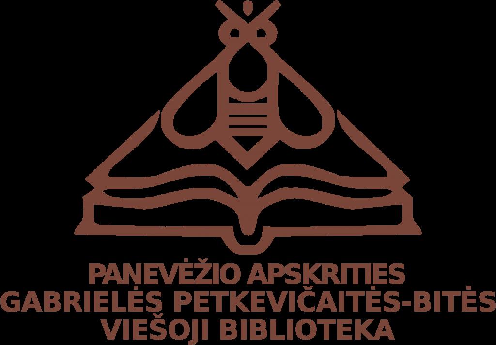 Panevėžio apskrities Gabrielės Petkevičaitės-Bitės viešoji biblioteka logotipas