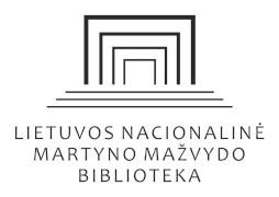 Lietuvos nacionalinės Martyno Mažvydo bibliotekos logotipas